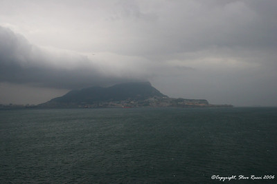 Approaching the Rock of Gibraltar.