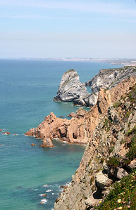 View from the edge of the cliff, Western-most point in Continental Europe (Sintra, Portugal)