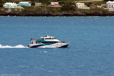 One of the ferries running around Bermuda.