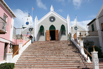 St. Peter's Church - St. George, Bermuda.  Built in 1713, is believed to be the oldest continually used Anglican church in the Western hemisphere.