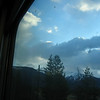 From train window--dome car