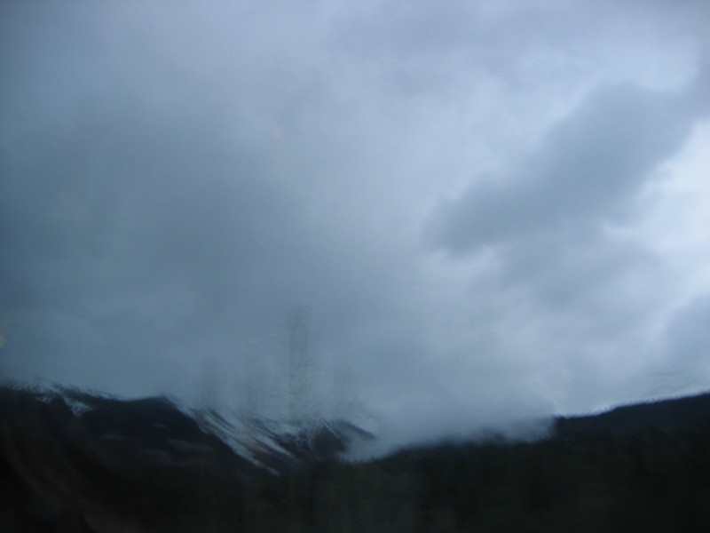 Poor attempt to take a picture of part of the Canadian Rockies