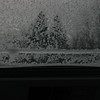 Ice on the dome car window,
