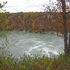 Niagara River takes an almost 90 deg turn here and causes this whirlpool. As you look across, you are still looking at Canada. Looking to the left it ends. Kinf of a giant backwater.