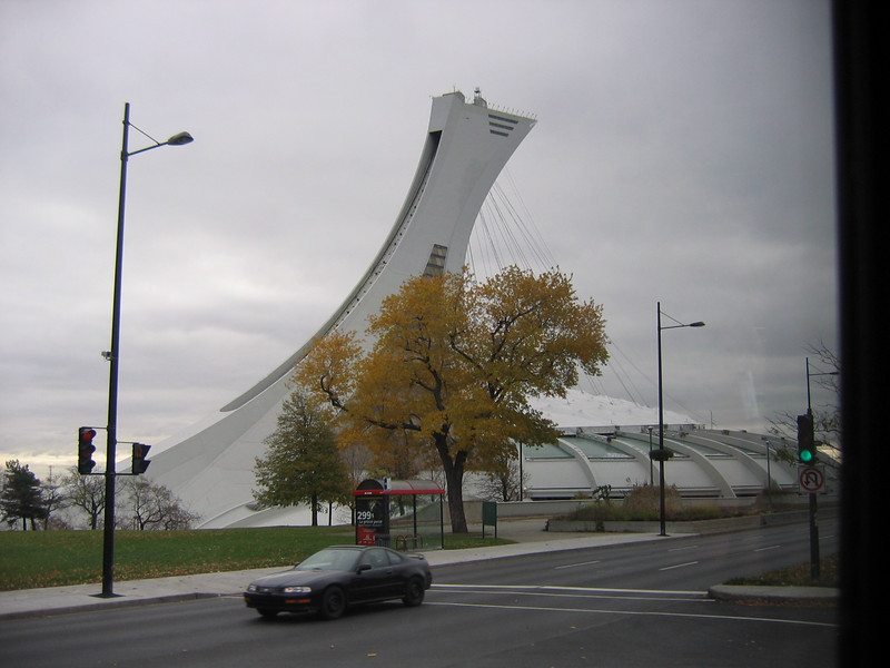 Observation tower over the Montreal Expo dome.