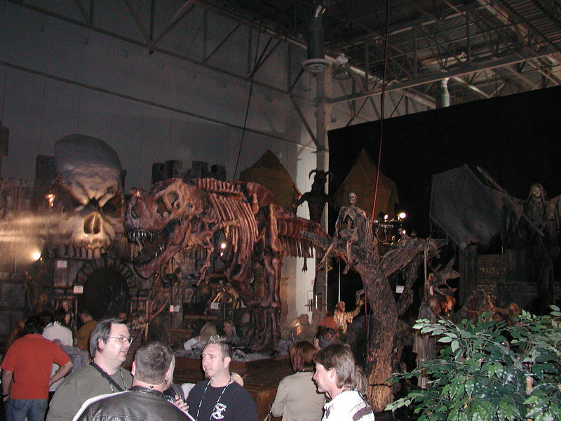 Dosen't evry backyard haunt need a $14,000 animatronic skeleton T-Rex?