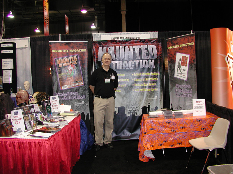 Leonard Pickel of Haunted Attraction magazine who put thee haunted stuff into this party supply and costume show.