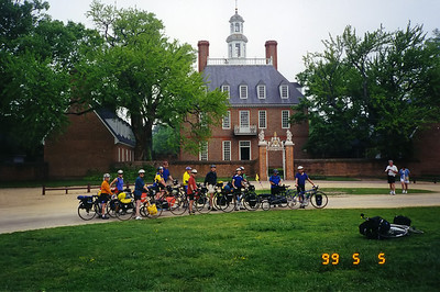 Our official starting point, the Governor's Palace in Williamsburg, Virginia.