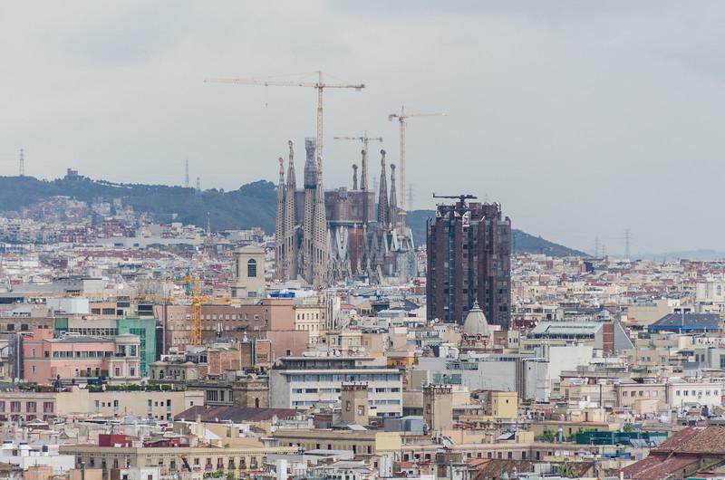 Sagrada Familia from Montjuïc