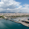"Barcelona from the <a href=""https://www.barcelona-tourist-guide.com/en/attractions/cable-car-barcelona.html"" target=""_blank"">Cable car</a>"