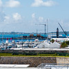 The dockyards marina, home to 5 of the America's Cup teams.