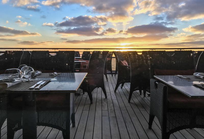 Monday April 3 - sunset