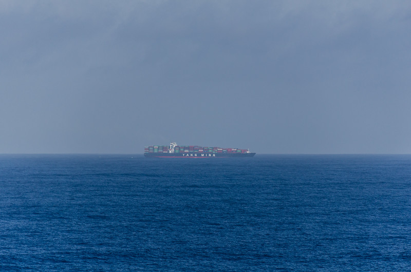 Sunday April 2 morning - container ship