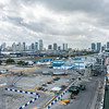 Port of Miami. Regent Seven Seas Explorer on the other side in the middle distance, Norwegian on the right