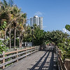 Miami mid-Beach boardwalk