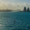 Into the Atlantic, pilot boat following