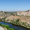 Toledo from south across the Tagus river