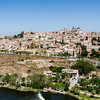 Toledo from south with Primate Cathedral of Saint Mary of Toledo on right