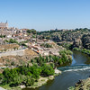 Toledo from south with Alcázar of Toledo on left