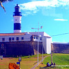 Farol da Barra lighthouse, built on top of a 16th-century fortification that is now a museum