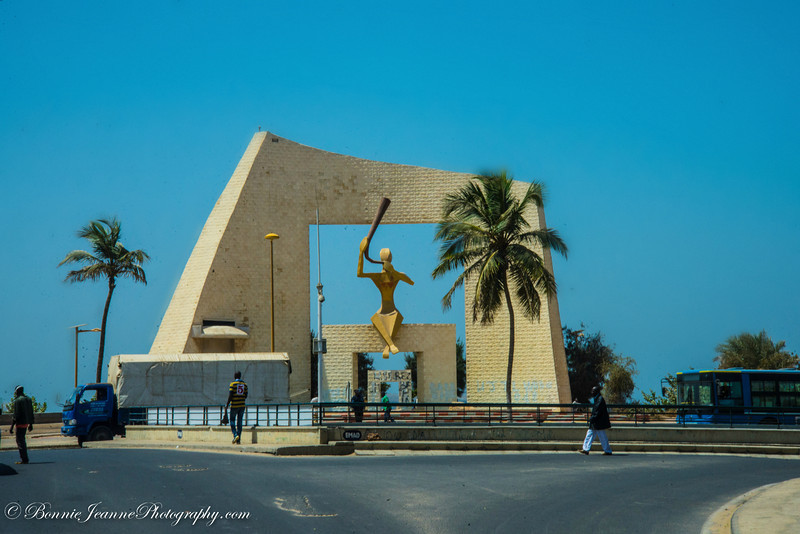 Door of Millennium, which was built in 2000 to symbolize Senegal's entry into the new millennium.