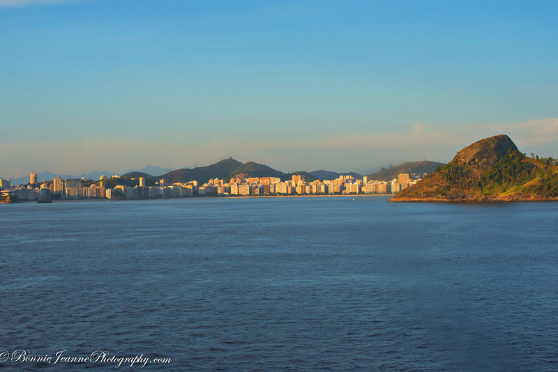 Looking across the bay from Rio