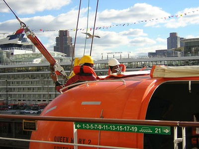 lifeboat drill for new crew (NOT for us passengers!)