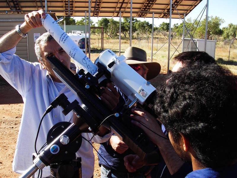 Will the make-shift telescope work?