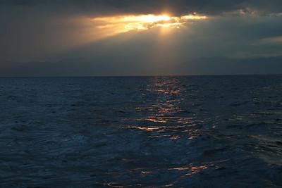 Orange and navy sea.