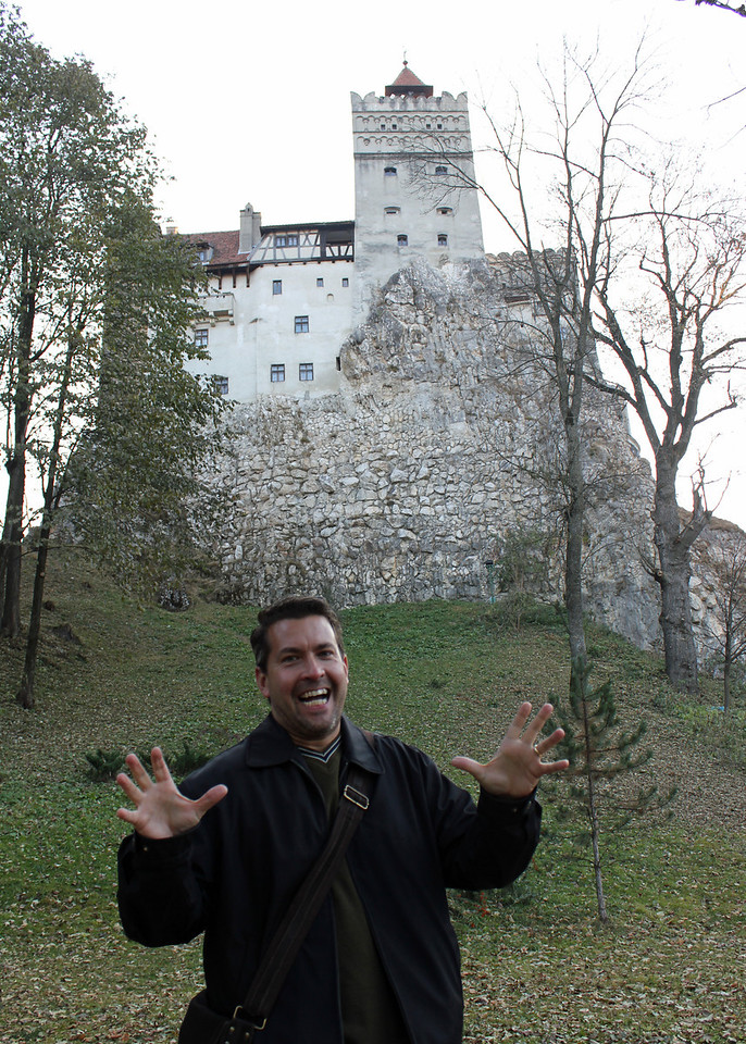 """Our next stop was Bran Castle also more commonly known as """"Dracula's Castle."""""""