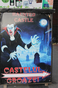 The locals put on a good show but don't let them fool ya.  Vampires aren't real.  And the real Dracula (Vlad the Impaler) never lived here.