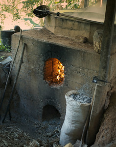 Quebradas, Costa Rica July 2013  Trapiche kiln for heating the cane juice.