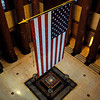 View of the shrine from the catwalk inside the Indiana War Memorial in Indianapolis.