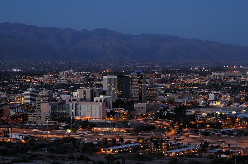 Tucson Arizona evening.