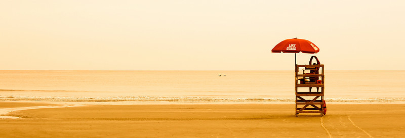 Lonely morning on the beach before the crowds come.