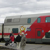 """It's five hours on the train from Helsinki to Joensuu (""""River's Mouth""""), the main town in Karelia. I didn't realise until I got off the train at Joensuu that it had a Richard Scarry character painted on the outside - I <i>loved</i> those books as a child."""