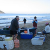The fish monger appeared every morning on the beach off our veranda.