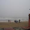 A foggy day at the beach.
