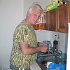 """Mark works in """"our"""" kitchen at Estancia San Carlos."""