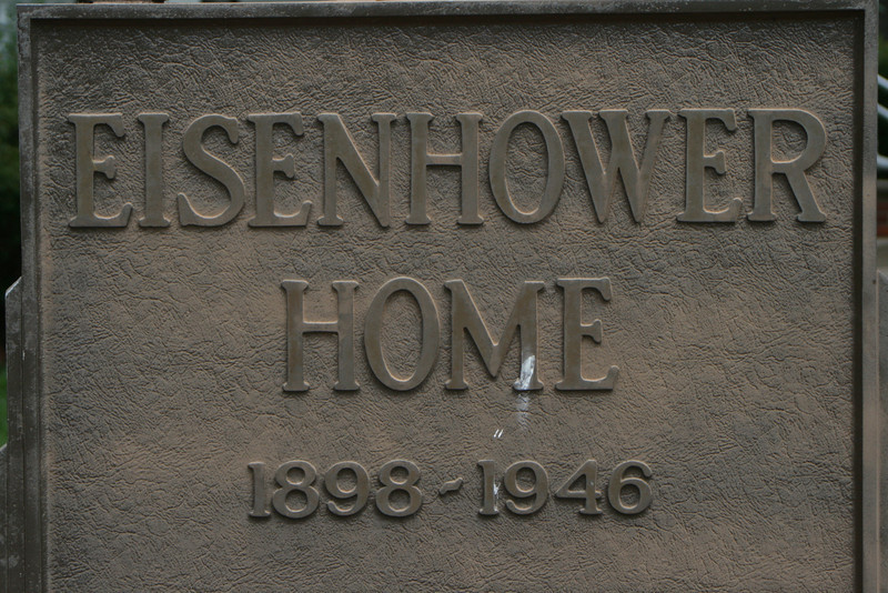 Eisenhower Home Plaque