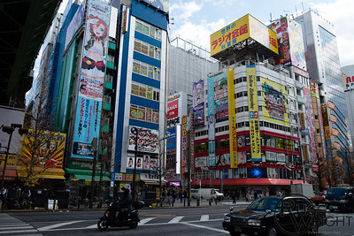 Akihabara, Tokyo. Center for games and anime. January 2014