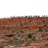 Arches NP  Crowded La Sal Mountains Viewpoint