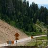 Road down Teton Pass to Jackson