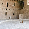 Spruce Tree House-courtyard and ladder into Kiva