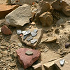 Tribal Park - pottery shards - unexcavated kiva