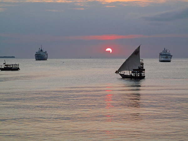 Sun Sets on Stonetown Waterfront