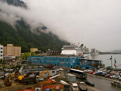 Downtown Juneau from our hotel room Copyright 2009 Neil Stahl