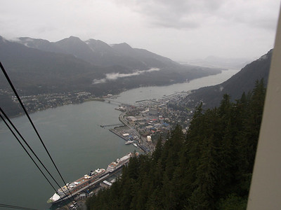 Gastineau Channel from atop Juneau tram Copyright 2009 Neil Stahl
