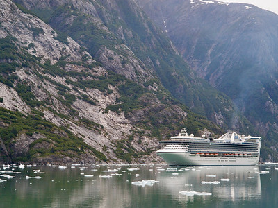 Passing a large ship in Tracy Arm Copyright 2009 Neil Stahl