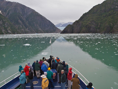 Nothing like that first glacier to get us on deck Copyright 2009 Neil Stahl